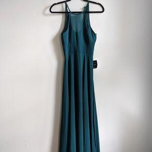 LULUS Long Formal Green Dress XS